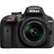 Nikon D3400 + AF-P 18-55VR Black KIT VBA490K001 DSLR digitalni fotoaparat i objektiv AF-P DX 18-55mm f/3.5-5.6G VR VBA490K001