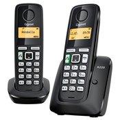 GIGASET brezžični stacionarni telefon A220 DUO