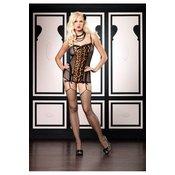 Mrezasta haljina sa halterima i leopard printom 81280