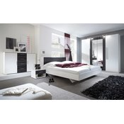 HELVETIA Spavaća soba ANNA veliki komplet (crni orah-bijela)