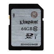 KINGSTON spominska kartica SDXC 64GB CL10 UHS-I (SD10VG2/64GB)