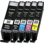 EUROTONER zamjenska tinta za Canon CLI-551C XL plava