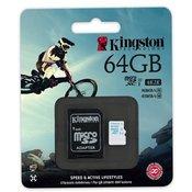 Micro SD card Kingston 64GB SDHC Class10 SDCAC/64GB ACTION CAMERA UHS-I U3 90MB/S READ,45MB/S WRITE