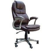 pisarniški stol K-8893B, usnje, črno