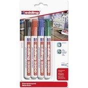 Edding Trajni flomaster Edding Permanent Marker E-3300 4-3300-4 širina poteza 1 - 5 mm oblik vrha
