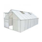 VIDAXL staklenik 12.25 m2. polikarbonat i aluminij