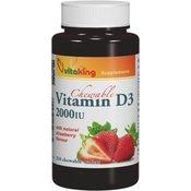 VITAKING vitmaini D3 Vitamin 2000, 210 žvečilk