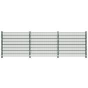 vidaXL Ogradna ploča sa stupićima 6 x 1,6 m