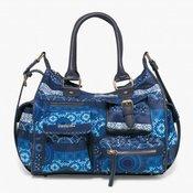 Desigual ženska ročna torbica modra London Medium Barbados