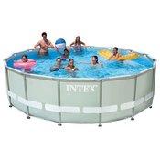 Intex bazen Ultra Frame Set 549 x 132 cm, s pješčanom pumpom, ljestvama, podlogom, presvlakom (28336NP)