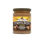 MERIDIAN FOODS arašidovo maslo crunchy iz ekološke pridelave 280g