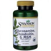 SWANSON tablete PREMIUM GLUCOSAMINE CHONDROITIN MSM 120kom