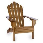 Blumfeldt Vermont, smeda, vrtna fotelja, vrtna stolica, adirondack, 73x88x94cm, sklopiva