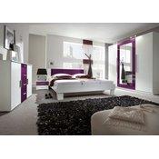 HELVETIA Spavaća soba ANNA veliki komplet (bijela-ljubičasta)