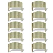 vidaXL Drvena ogradna ploča za cvjetnjake/travnjake lučni dizajn 10 kom