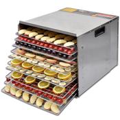 VIDAXL sušilnik/dehidrator hrane z desetimi pladnji, inox