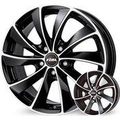 Rial platišča x112 ET38 7.5x16 RIAL LUGANO črna 70.1 ( Audi. VW. Mercedes. Škoda )