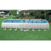 Intex bazen Ultra Frame Set 975 x 488 x 132 cm, s pješčanom pumpom, ljestvama, podlogom, presvlakom (28376