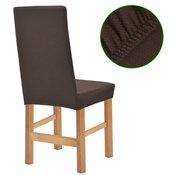 vidaXL Rastezljive navlake za stolice 4 kom Smede Piqué