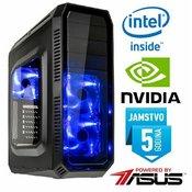 Računalo INSTAR Republic of Gamers Elite, Intel Core i7 7700K up to 4.5GHz, vodeno hlađenje, 16GB DDR4 2800MHz, SSD 240GB, NVIDIA GeForce GTX1060 6GB DDR5, DVD-RW, 5 god