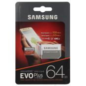 Samsung 64GB EVO+ MICRO SDXC UHS-I  class10 U3 4K UltraHD 100MB/s SPOMINSKA KARTICA+ SD adapter