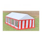 Pokrivač šatora za zabave i bočni paneli 8 x 4 Crveni i bijeli