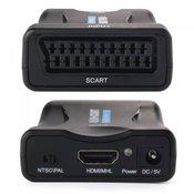 Pretvornik/adapter SCART na HDMI, črn