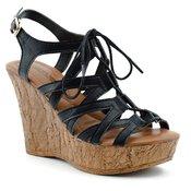 Sandale na platformu LS30700 bele