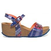 Desigual ženski sandali Bio7 Denim Patch 37 modra