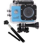 SJCAM sportska kamera s vodootpornim kućištem SJ 4000 WiFi, plava
