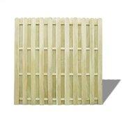 vidaXL Panel Ograda od Borovine zelena 180x180 cm