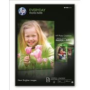 HP Everyday Photo Paper,100 Shts,EU  lowest priced glossy inkjet photo  paper. Semi-gloss alternative to plain  paper for printing everyday photos. One  sided,A4-size. (Q2510A)