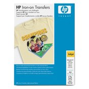 HP Iron-On T-Shirt Transfers (A4) 10 sht pk, inkjet receptive transfers for applying designs and photos to cotton or poly-cotton blend fabric. Designed for  DeskJet 600 and 800 series printers. (C6050A)