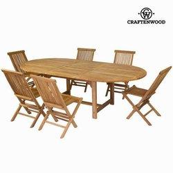 Stol na izvlačenje sa 6 stolica by Craften Wood - Jeftinije.hr