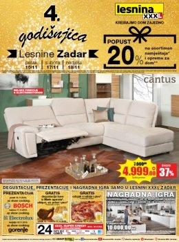 Lesnina katalog - Slavimo 4. Godišnjicu Lesnine - Zadar
