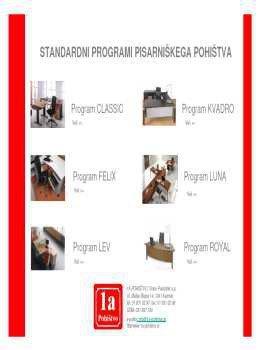 1A Pohištvo katalog