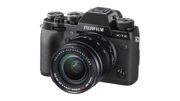 Fujifilm Sistemski fotoaparat Fujifilm X-T2 Kit vklj. XF 18-55 mm 24.3 mio. pikslov, črne barve 4K-video, WiFi, vrtenje/obračanje zaslona