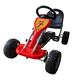 VIDAXL Go Kart na pedale, rdeč